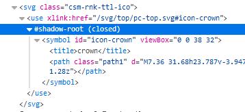 svgファイルが外部参照の場合にshadow-rootになっている